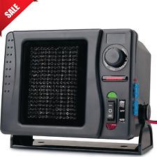 12V Car Ceramic Heater Electric Fan Portable Heat Cooling Swivel Base 300 Watts