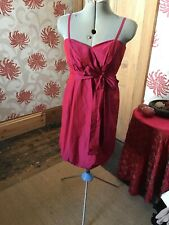 Be Beau Party Mini Dress Size 14 Balloon Puffball Pink Shimmer