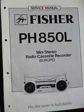 ORIGINALI service manual Fisher MINI STEREO RADIO CASSETTE RECORDER pH 850l