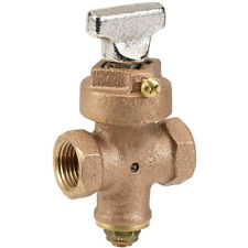 Supply Stop Valve 3/4 in. Dia. Lead Free Quarter Turn Threaded Outdoor