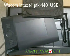 Wacom INTUOS4 PTK-440 Tablet with USB Cable & Wireless Grip Pen Mouse Nibs BOX