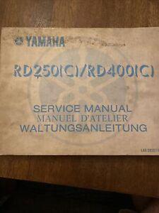 Rare 1976 YAMAHA SERVICE MANUAL RD250/400 (C) RD 250 400