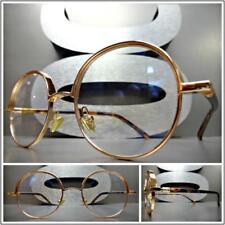Mens Women CLASSY UNIQUE Clear Lens EYE GLASSES Round Rose Gold & Tortoise Frame