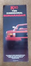 Vintage K40 Radar Brochure late 80s early 90s