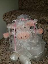 Manhattan Toy Bride Pig Soft Plush Doll Country Farm Wedding FlowerGirl Gift EXC