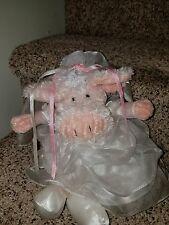 Manhattan Toy Bride Pig Soft Plush Doll Country Farm Wedding FlowerGirl Gift EXC