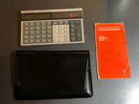 Texas Instruments TI-66 Calculator w/ Leather Case & Guide - NOT WORKING! As-is