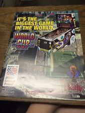 Bally WORLD CUP SOCCER Pinball Machine flyer- original