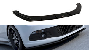 MAXTON FRONT SPLITTER FOR VW SCIROCCO (2008 - 2014) (GLOSS BLACK)