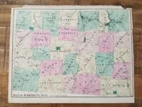 ANTIQUE Colored Map of PLAN OF SUSQUEHANNA CO, PA / A. Pomeroy & Co. 1872