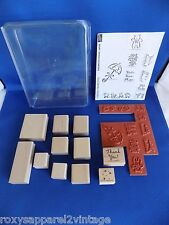 Baby Announcements Set of 9 New 2 Used Wood Mounted Rubber Stamp 2000 Stampin Up
