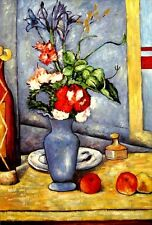 "Paul Cezanne - Blue Vas Repro  Oil Painting - size 24""x36"""