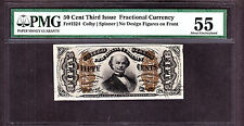 US 50c Fractional Currency Red Back FR 1324 PMG 55 Ch AU