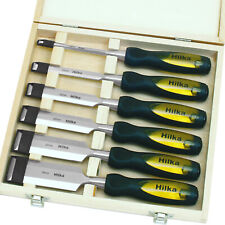 Professional Wood Chisel Set 6 Woodworking Carpentry Bevel Edge Carving Chisels