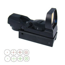 Tactical Holographic Reflex Sight Green and Red Dot with 4 Reticles-Color Black