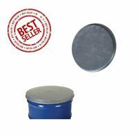 55 Gallon Drum Cover Closed Head Galvanized Steel Drums Burn Barrel Top Rim Lid