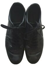 Lascoste Mokara Black Punched Leather Mens Trainers Size 10
