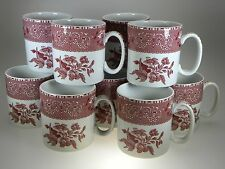 Spode Pink Camilla Mugs Set of 12 Made in England NEVER USED!!!