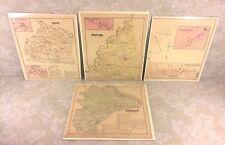 3 Maps of York County PA 1876 by Beach Nichols Publ Pomeroy Whitman & Co Set #2