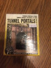 Woodland Scenics C1154 N-Scale Timber Tunnel Portals, Single Track (2)