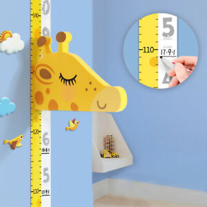 Kids Child 3D Height Growth Chart Measure Wall Sticker Room Nursery Playroom