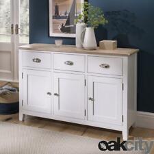 Nebraska Oak White 3 Door 3 Drawer Sideboard