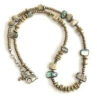 SILPADA .925 Sterling Silver Bronze Seed Bead Shell Necklace N1729 RETIRED