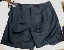 Roundtree & Yorke Size 46 Big Man Blue Classic Fit Pleated Shorts