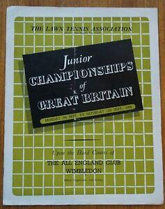 L.T.A. Junior Championships Wimbledon 1959, Official programme 7-12 September