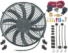 """14"""" INCH ELECTRIC COOLING RADIATOR FAN 3/8"""" PROBE GROUND THERMOSTAT SWITCH KIT"""