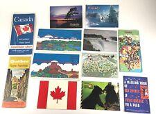 Large Lot Old Vintage Ephemera Map Brochures Pamphlets Paper Canadian Postcards