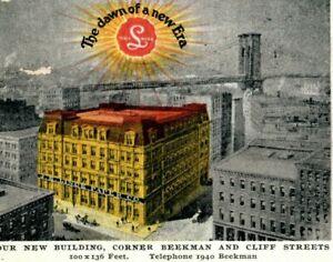 1907 J.E. Linde Paper Company Building Advertising New York Edella PA Postcard