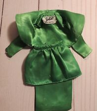 """Vintage Barbie Doll """"Theatre Date"""" Outfit Green Satin Jacket Skirt #959"""