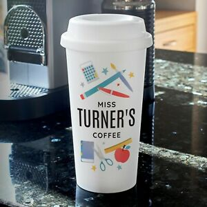 Personalised Teacher Travel Mug Cup Insulated Work Office Coffee Gift School