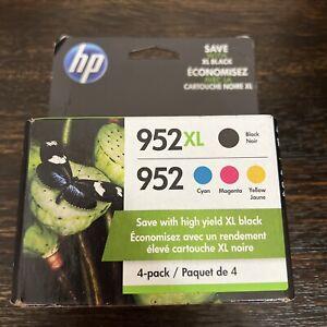 GENUINE HP 952XL BLACK, 952 COLORS Ink CartridgeS Combo Pack N9K28AN (2023) NEW!
