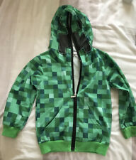 Minecraft Creeper Kids Boys Youth Hoodie Zip Up Coat Sweater Jacket