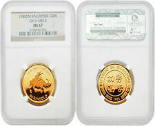 Singapore 1985 Year of Ox 1/2 oz Gold NGC MS67