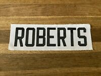 ROBERTS Game Used Worn Ottawa Senators White Jersey Nameplate