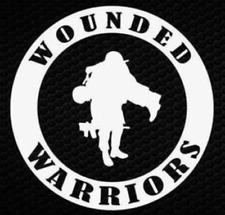 Wounded Warrior Vinyl Decal Car Truck Window Sticker Military Veterans Service!