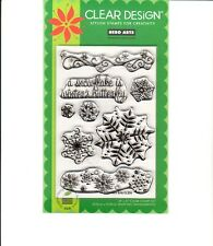 Hero Arts Clear Design Stamp Set -  Winter Butterfly New