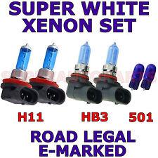 FITS VOLVO S40 2004-ON SET HB3  H11  501 SUPER WHITE XENON LIGHT BULBS