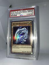 Yu-Gi-Oh Blue Eyes White Dragon Limited Edition TINS 008 Card PSA 10 Gem Mint