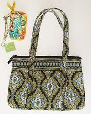 Vera Bradley New Handbag With Wallet ,Navy/Green, multicolor