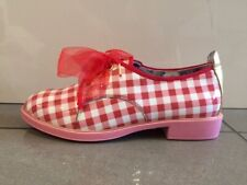 Irregular Choice Dreamy Day Red / White Leather Brogue Shoes EU 37 UK 4
