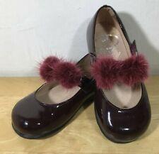 Chicas papouelli Zapatos Charol Borgoña Mary Jane Boda/Fiesta UK 23