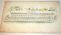 "Rare Antique Victorian American ""Try Again"" Music Sheet Reward of Merit Card! US"