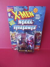 """X-MEN STEEL MUTANTS """"PROFESSOR X VS MAGNETO"""" 2.75""""IN DIE CAST FIGURES 1994"""
