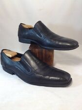 Mens Lavorazione Artigiana Black Leather Slip On Loafers Size 11 M