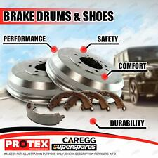 Protex Rear Brake Drums + Shoes for Nissan Elgrand E50 Navara D21 D22 Pathfinder