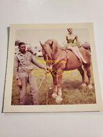 Original 1960 Beers Barnes Circus Equestrian act horse VINTAGE Photo